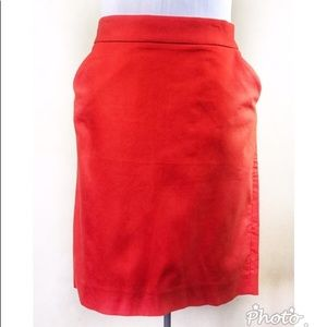 J. Crew Factory Red Orange 'The Pencil Skirt